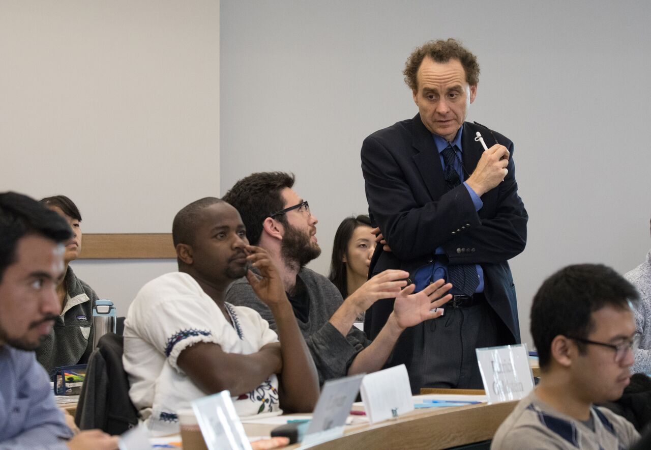 Dan Levy, Senior Lecturer in Public Policy at Harvard Kennedy School,  teaching and interacting with students